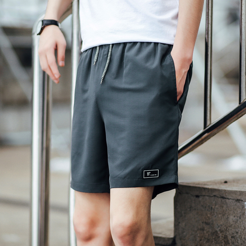 Pants Half-Shorts Drawstring Sport Running Boy Men Sandy Cool Loose Outside Male Causal