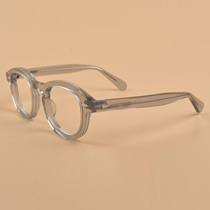 Men's Eyewear Frames Have An Inquiring Mind Haptron Fashion Retro Round Glasses Frames Women Men Brand Eyeglasses Frames Optical Clear Lens Glasses Black Pink Transparent