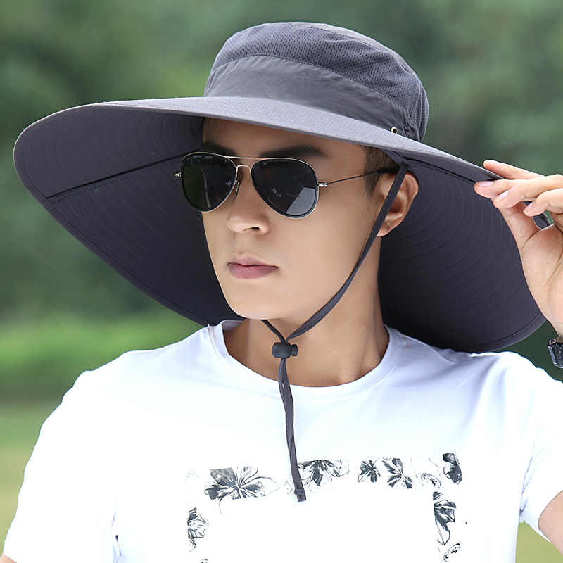 a8d10ba7 ... Hat Man Summer Fisherman Mountaineering Breathable Sun Shade Hats  Outdoor Fishing Male Sunscreen Cool Fashion Visor ...