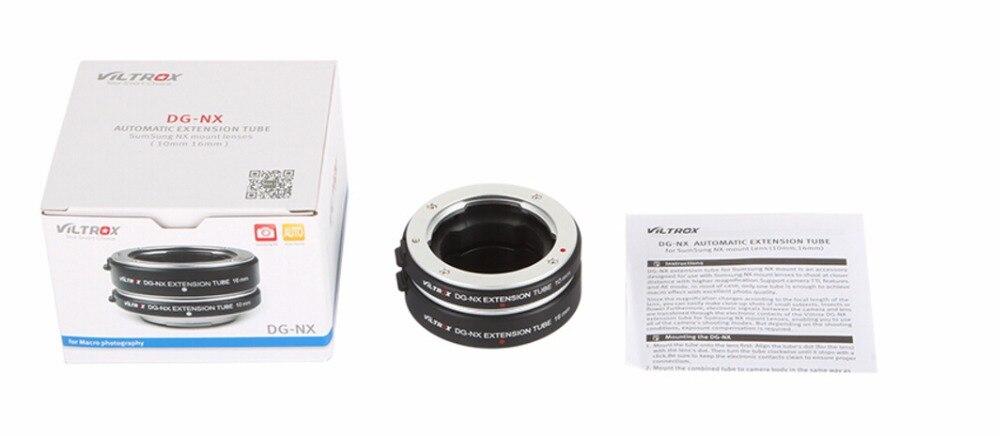 Viltrox DG-NX 10 MM 16 MM AF Auto Focus Micro Extension Tube lentille adaptateur anneau pour Samsung NX 500/2000/1000/330 caméra sans miroir - 6