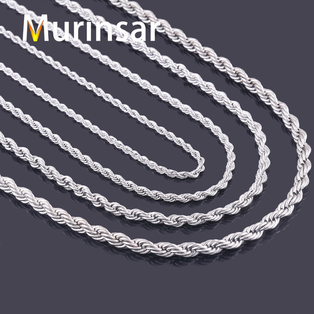 316L Stainless Steel Rope Chain Necklace for Men and Women Chain Necklace Stainl