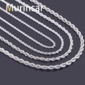 Cuerda de acero inoxidable collar de cadena para hombre y mujeres collar de cadena de acero inoxidable de la joyería venta al por mayor