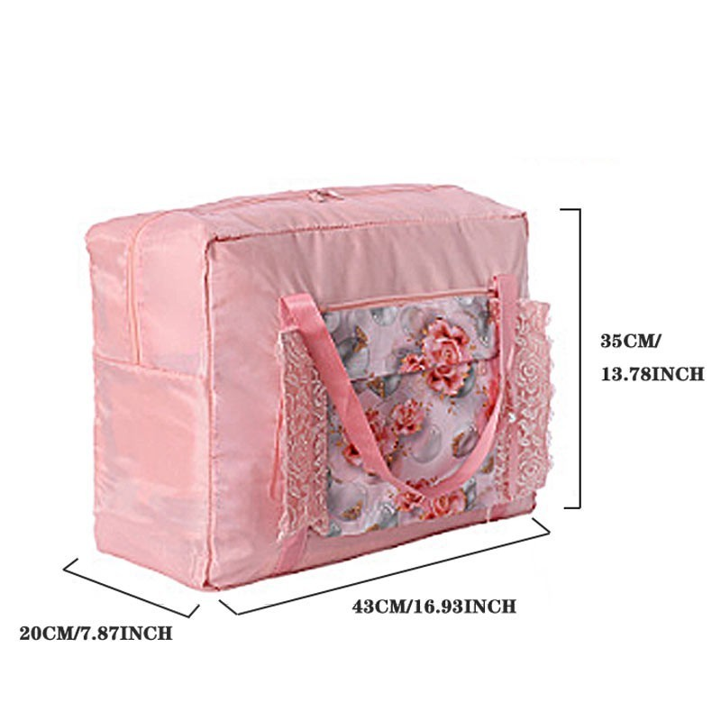 Image 2 - LDAJMW Tote/Shoulder Travel Shopping Big Bag Folding Clothes Storage Pouch Organizer Cosmetics Storage Bag Travel Luggage Bag-in Storage Bags from Home & Garden