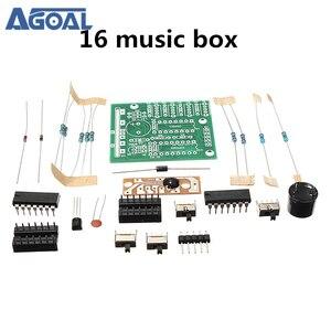 Бесплатная доставка DIY Набор 16 Музыкальная Коробка 16 звуковая коробка набор электронная DIY Набор Музыкальная Коробка запчасти комплект