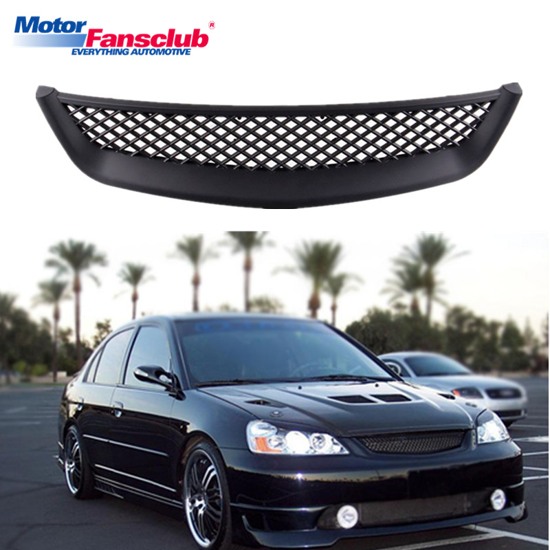 Car Racing Grille For Honda Civic 2001 2002 2003 Radiator Mesh Honeycomb Auto Front Hood Per Intake Grill Modify Abs Material In Grills From