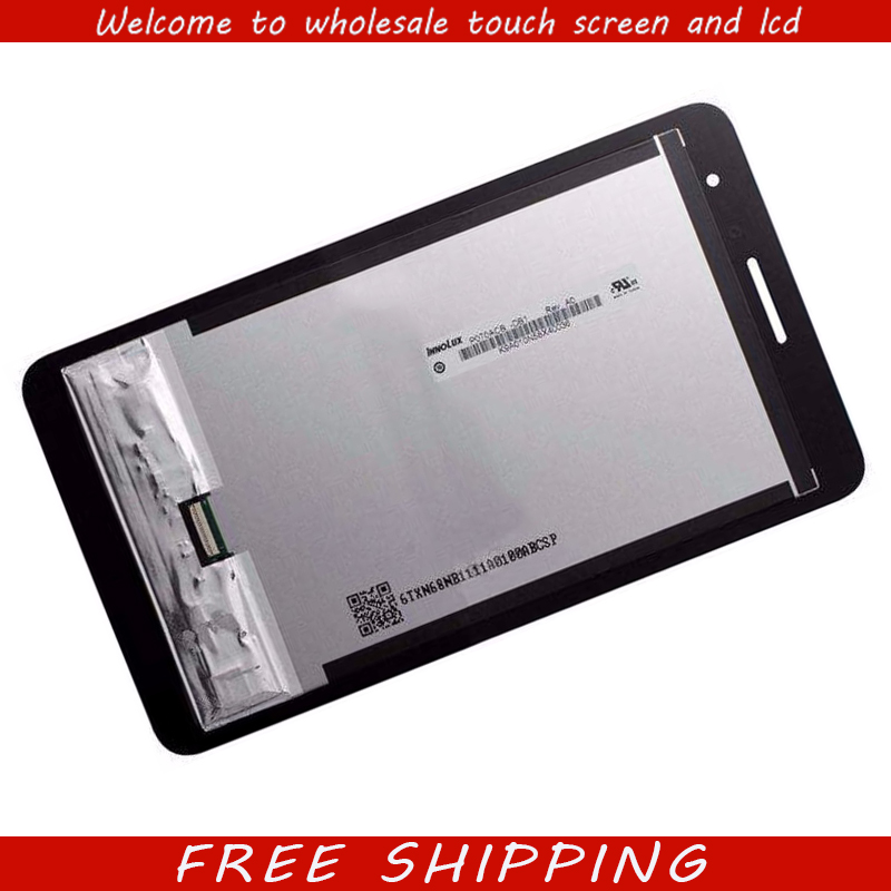 Touch Screen Digitizer + LCD Display Monitor Panel Assembly for Huawei Honor Play MediaPad T1 7.0 T1-701u / T1-701ua srjtek 7 for huawei honor play mediapad t1 701 t1 701u t1 701u lcd display touch screen digitizer assembly tablet pc parts