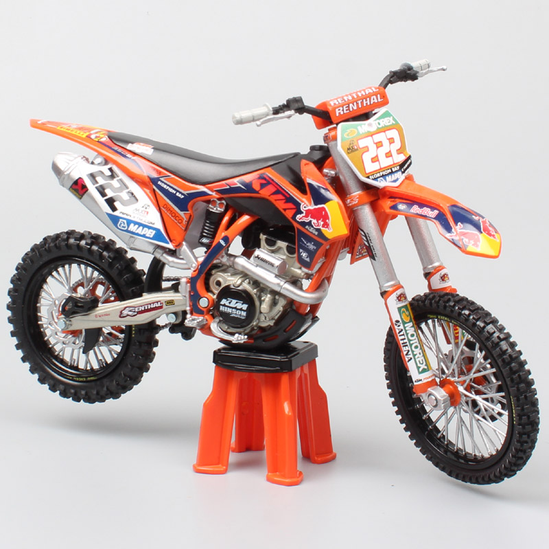 1/12 KTM 350 SXF SX-F Motocross Riders 222 Tony Cairoli MX1 Scale Motorcycle Diecast Model Miniature Redbull & Vehicle Toys Cars