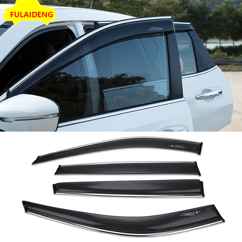 Deflectors For Jeep Renegade Windows Rain Sun Visors Weather shields 2014-2018