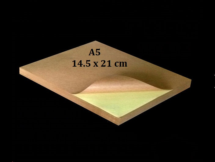 3 To 30 Sheets A5 Kraft Matte Sticky Paper Printable Self Adhesive Label Sticker 145*210 mm a4 light brown kraft paper printable matt self adhesive sticky label for inkjet printer 2 to 20 sheets
