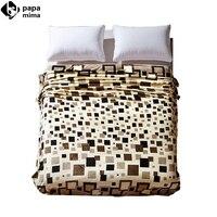 black brown plaids air-contioning blanket flannel microfiber 120x200cm/150x200cm/180x200cm/200x230cm size nap blanket