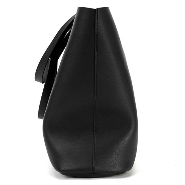 Women's PU Leather Tote Bag - Handbag With Purse Pocket Women Shoulder Large Tote Bag 1