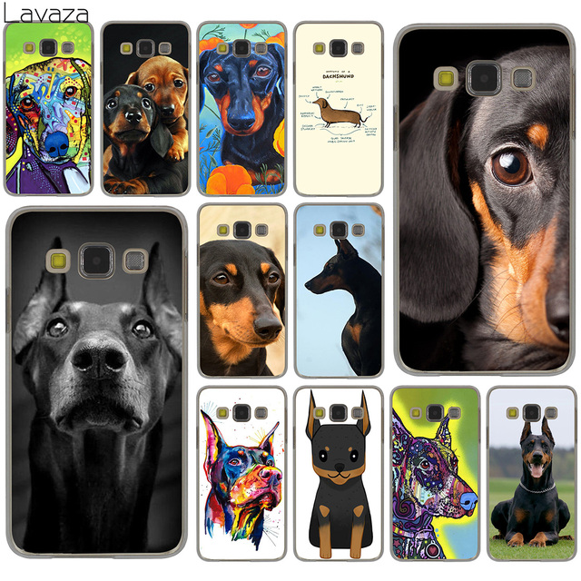 Lavaza Cute  Dachshund Doberman Dog Hard Case for Samsung Galaxy S10 S10E S8 Plus S6 S7 Edge S9 Plus Phone Cover