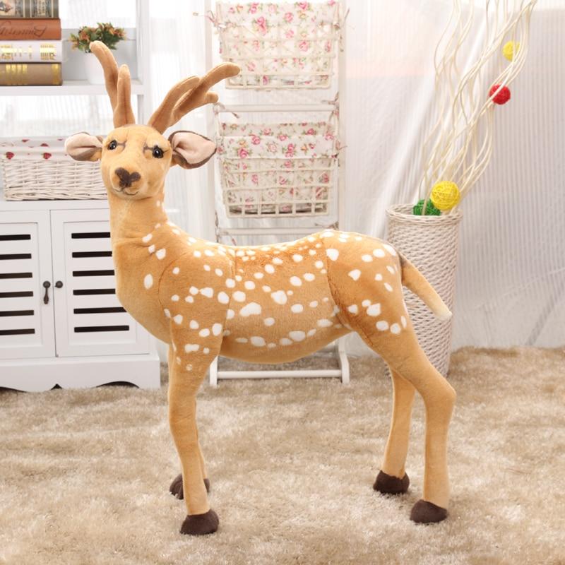 Stuffed animal 90x70cm simulation sika deer plush toy doll high quality gift present w1167Stuffed animal 90x70cm simulation sika deer plush toy doll high quality gift present w1167