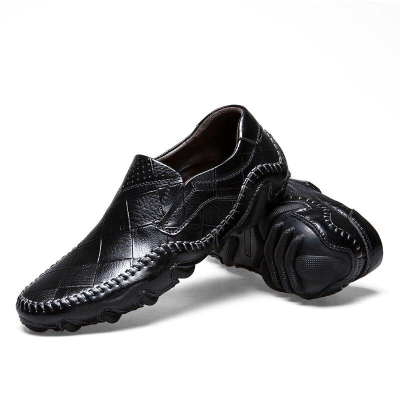 Occasionnels Mocassins 44 Hommes En marron 38 Véritable B1020 Chaussures jaune Noir Conduite Cuir Taille bleu On Appartements Slip BHqzt5wzx