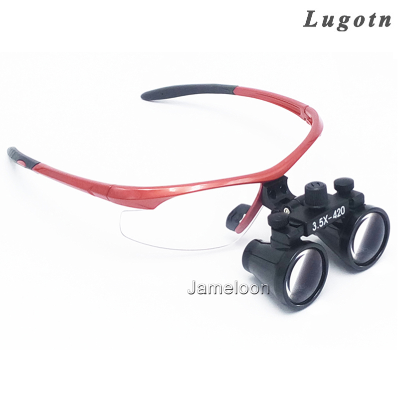 3.5X magnification surgical loupe good quality antifogging optical glasses dental dentist magnifier