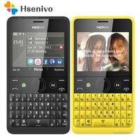 210 الأصل نوكيا آشا 210 مفتوح gsm 2.4 ''dual سيم بطاقات الهاتف 2mp qwerty الإنجليزية فقط مجدد شحن مجاني