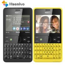 """210 Оригинал Nokia Asha 210 gsm 2.4 """"Dual Мобильные SIM-карты 2mp клавиатурой qwerty только на английском языке Восстановленное Телефон Бесплатная доставка"""