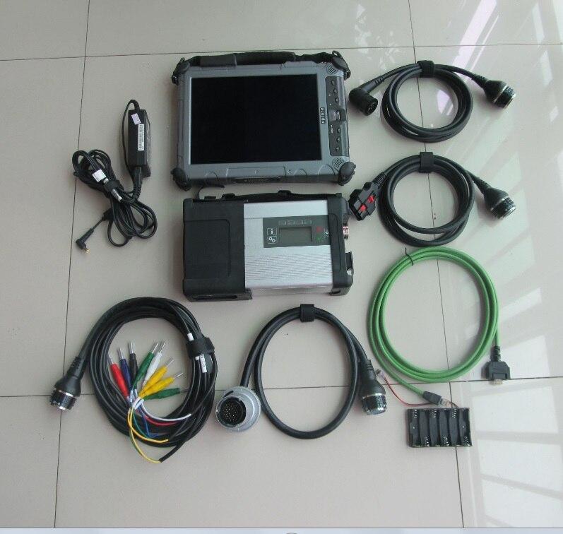 Рекомендованные MB Star C5 v2018.03 с ноутбуком Xplore ix104 прочный i7 Tablet Последним ...