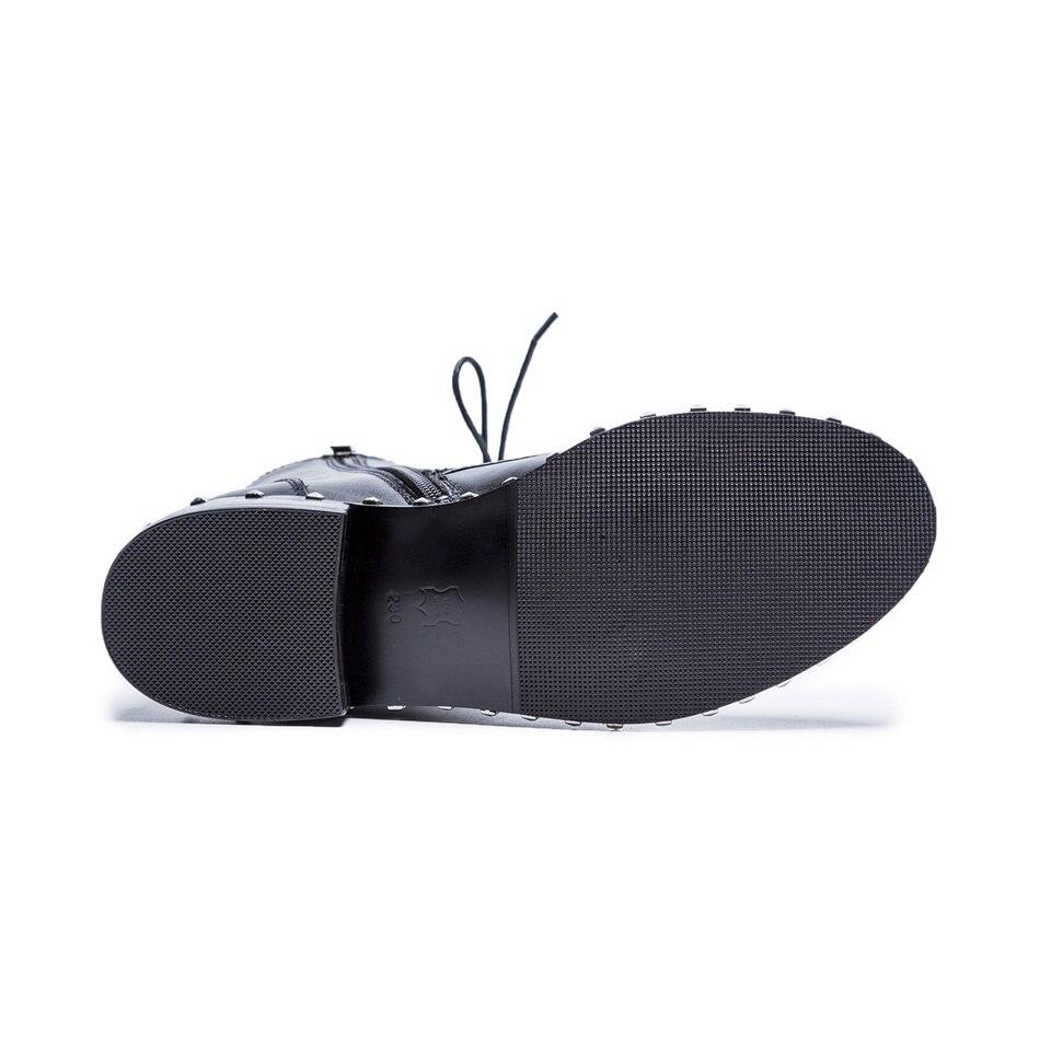 La Calidad Botas Invierno Mujer 1 2 Black Estilos De Cuero Venta Maguidern Del Caliente Genuino black Superior Cortas Martins Moda Zapatos Motocicleta wH46YIa0q