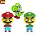 Super Mario LOZ Строительные Блоки Марио & Luigi & Йоши Diamond Microblock DIY Строительство Игрушки Милый Мультфильм Фигурки Детей подарок
