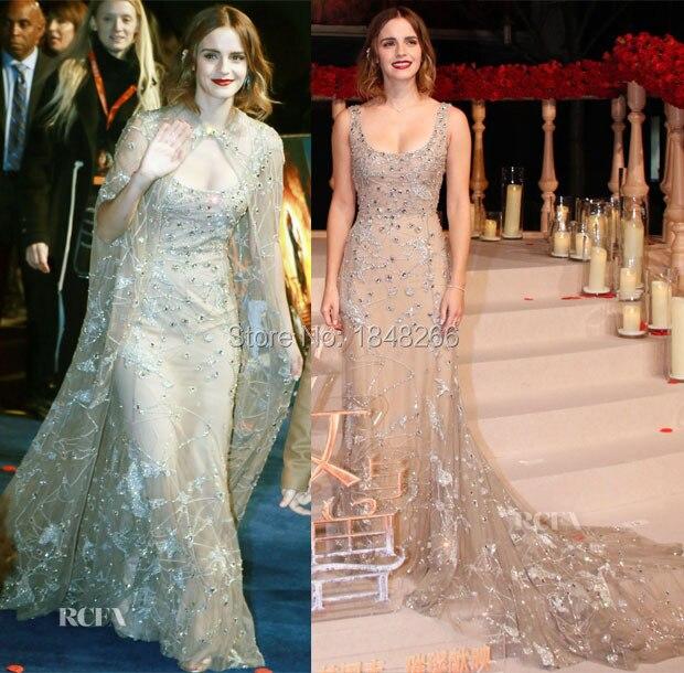 Ph17165 Emma Watson vestido longo Elie Saab Coutur.
