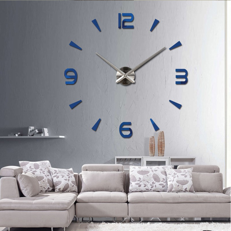 2017 Special Large Diy Quartz Wall Clock Living Room Watch Mirror Stickers Modern Design Home Decor Free Shipping In Clocks From