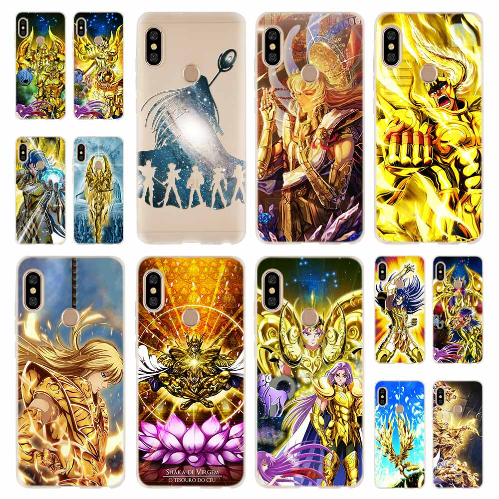 Saint Seiya Fashion Soft TPU Case Cover For Coque Xiaomi Redmi 8A 4A 5A 6A 4X 5 Plus 6 Pro Note 8 7 Pro 6 5Fitted Cases   -