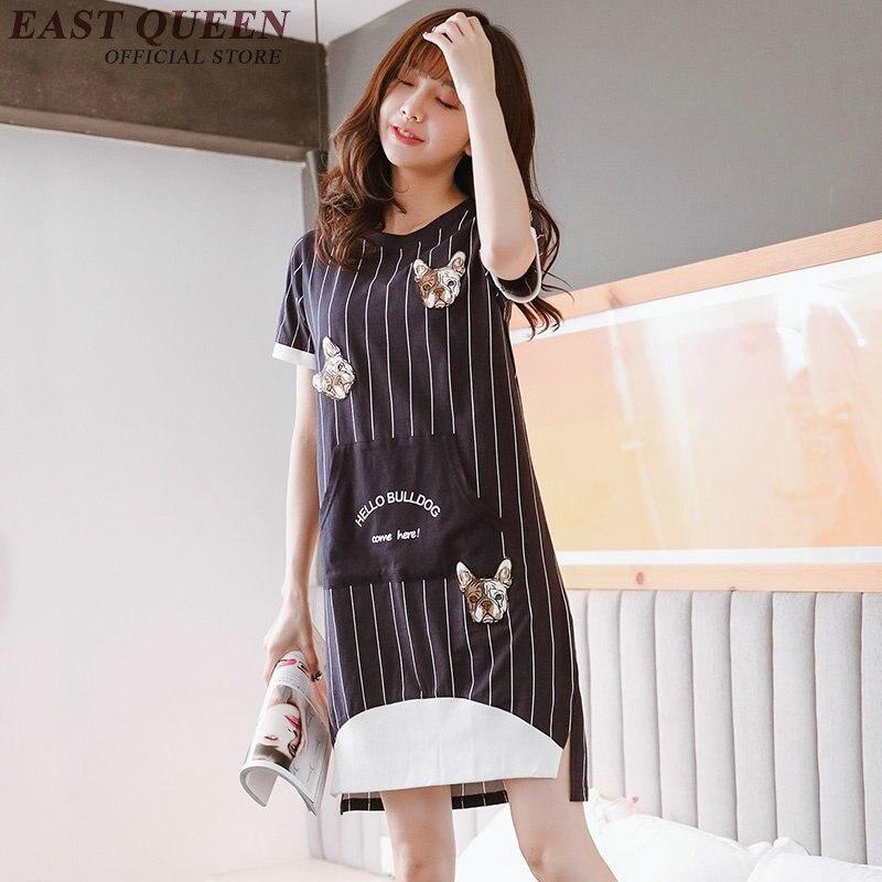 Casual Dress Shirt Sleeve Appliques Character Summer Dress Casual O-Neck Women Sporting Dress NN0227 YE