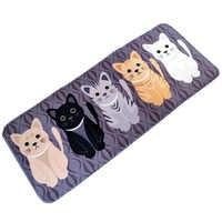 Bathroom Carpet Doormat Cat Kitchen Floor Mat Living Room Anti-Slip Tapete Welcome Floor Mats Rugs for Kitchen Cat Printed