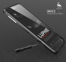Примечание 3 Рапира Серия Роскошный Алюминиевый Бампер Металла Для Samsung Galaxy Note 3 N9000 Дело Радужный Форма Кнопка Металлический Каркас крышка