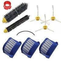 Replacement Brush Filter Kit For IRobot Roomba Aerovac 600 700series