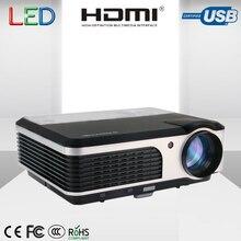 CAIWEI LCD Digital video TV proyector Mini proyector Led del Teatro Casero 3800 Lúmenes para DVD Tableta del teléfono móvil