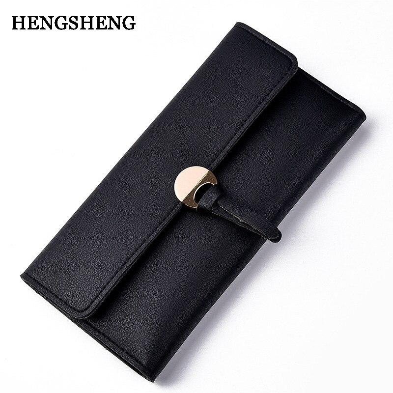 HENGSHENG női bőr hosszú pénztárca divat zseb a telefon női szép ... bc36c61a12