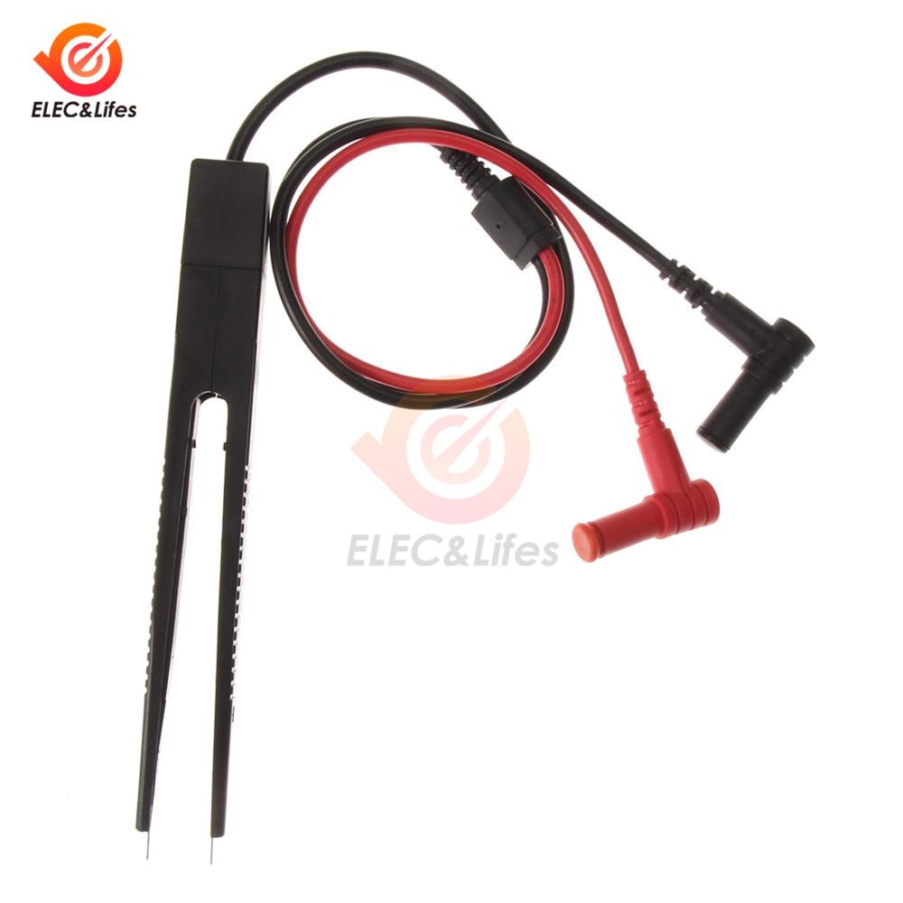 Digital Multimeter SMD Tester Inductor Test Clip Car Multimeter Probe Lead Tweezers For Inductance Resistor Multimeter Capacitor