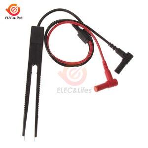 Digital Multimeter SMD Tester Inductor Test Clip Car Multimeter Probe Lead Tweezers for Inductance Resistor Multimeter Capacitor(China)