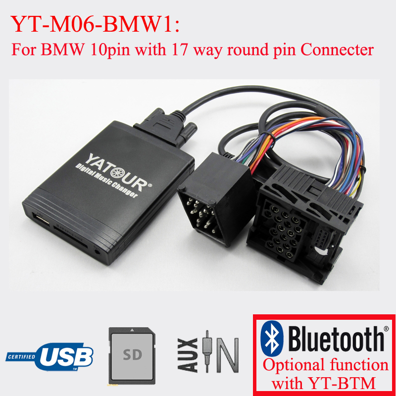 Yatour digital music changer car radio MP3 player for BMW car usb sd aux adapter digital music changer mp3 converter for volkswagen beetle 2009 2011 fits select oem radios