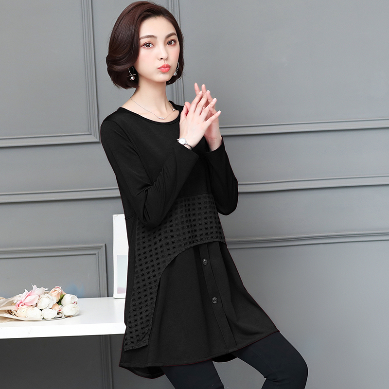 48bee67446c65 L- 5XL plus size cotton short dress for womens vintage tops long sleeve  autumn winter