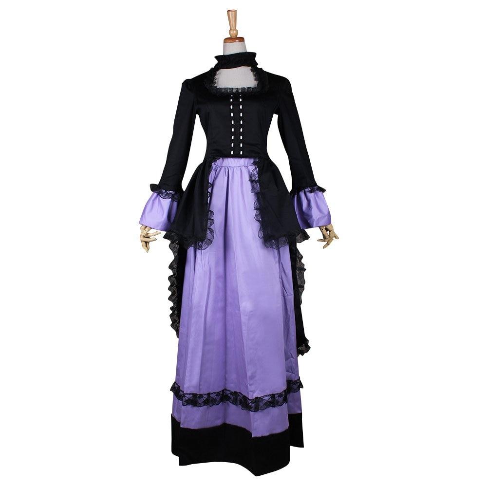 CosplayDiy Women's Black&Purple Southern Belle Gothic