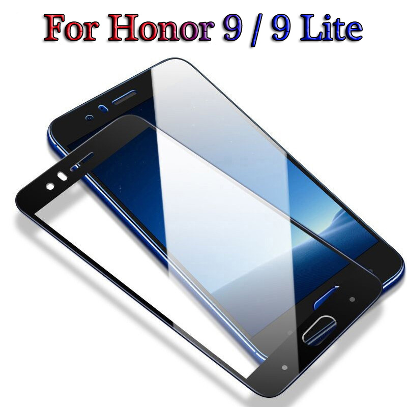 Full Honor 9 Lite Protective Glass For Honor 9 Lite 9lite 3D Tempered Glass 9H Screen Protector On Honor 9 Light Safety Glass