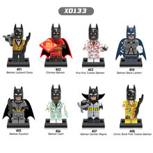 Single sale Super Heroes Leopard Dress Black lantern Cash Batman Damian Wayne Building Blocks Children Bricks Toys(China)
