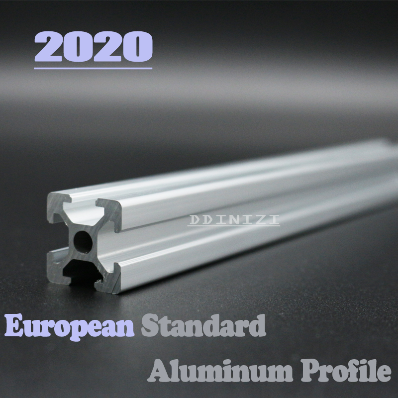 <font><b>2020</b></font> L <font><b>1000mm</b></font> to 1500mm Corner Brackets European Standard Anodized Linear Rail Aluminum <font><b>Profile</b></font> Extrusion 2pcs/lot image