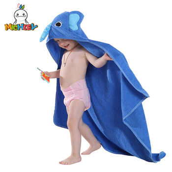 MICHLEY Kids Towel 2019 Toddler 100% Cotton Bathrobe Baby Boys Girls Spring Animal Hooded Bath Towel Children Cartoon Towel QWA - DISCOUNT ITEM  50% OFF All Category