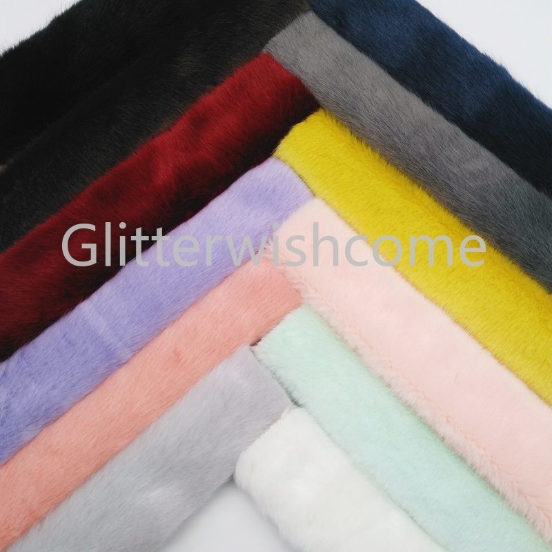 Glitterwishcome 21X29CM A4 Size Vinyl For Bows Immitation Mane Fur  Sheets For Bows, Bags, Shoes Accessories, GM367A