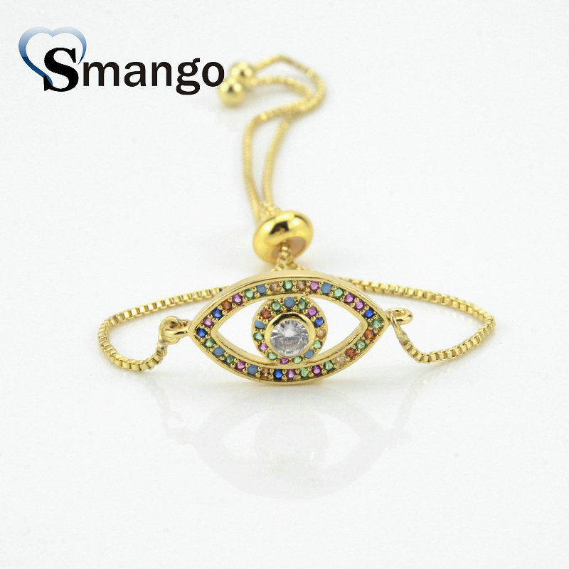 5Pieces 2019 New Arrival The Rainbow Series The Mix Shape Irregularity Bracelet Gold Color Can Wholesale in Chain Link Bracelets from Jewelry Accessories