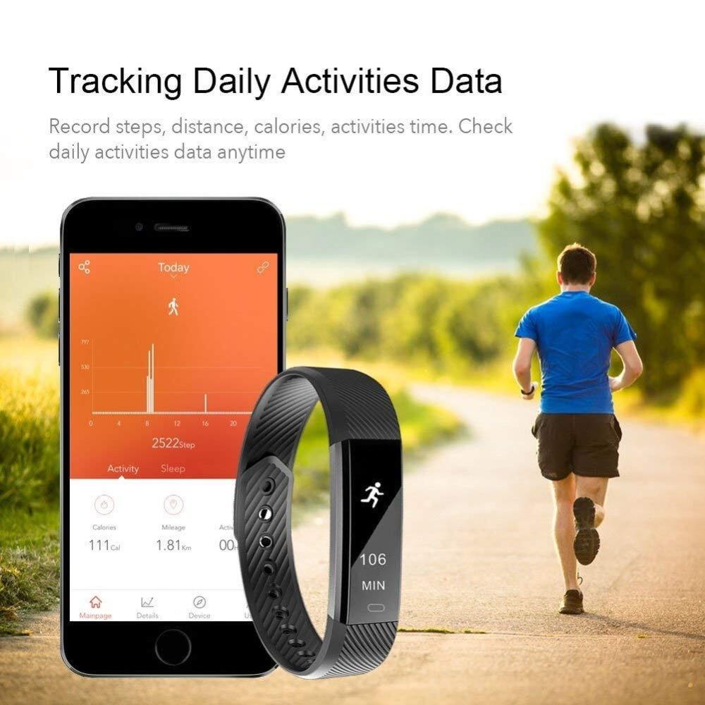 <font><b>Fitness</b></font> Smart Bracelet Vibrating Alarm Clock Band Watch For