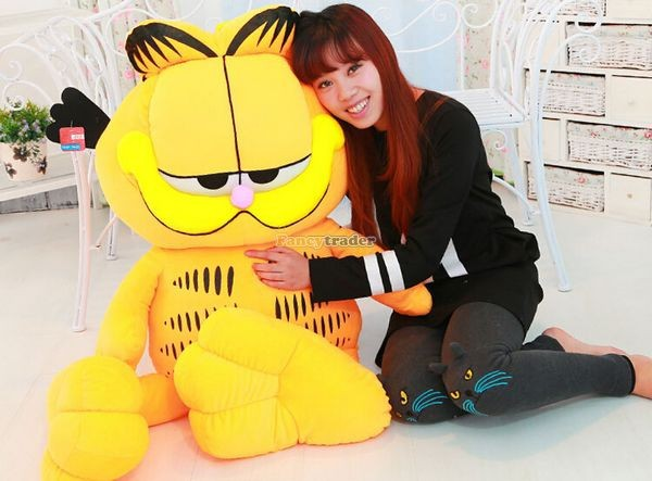 Fancytrader 49\'\' 125cm Super Funny Big Stuffed Soft Plush Lovely Giant Garfield Cat, Free Shipping FT50713 (6)