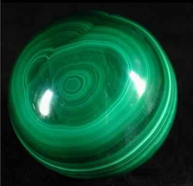 Malaquita Sphere, Bola de cristal de Cura, MineraL