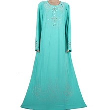Muslim abaya dress Islamic clothing for women decorated exquisite beads modest elegant dubai kaftan muslim dresses 70M8896