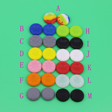 цена на 10pcs Joystick Caps Colorful Silicone Analog Controller Thumb Stick Grip Thumbstick Cap Cover Key Protector For PS4 for XBOX ONE