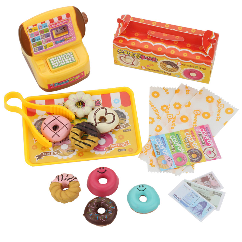 Plastic Donuts Shop Groceries Toy Food Cash Registe